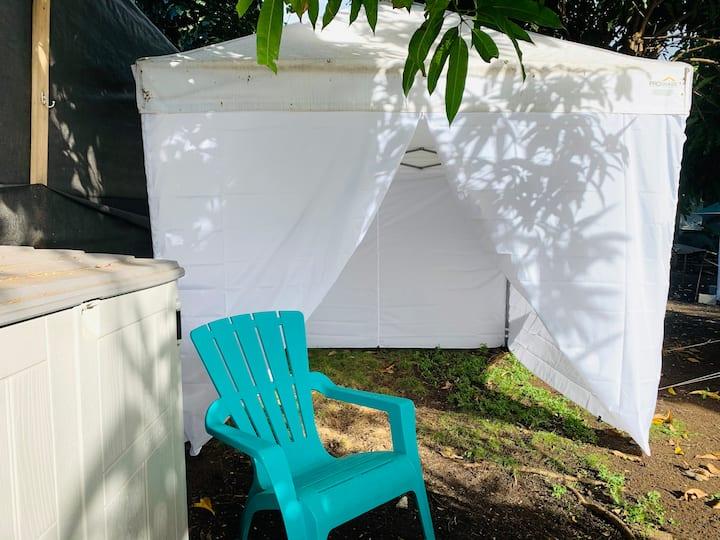 ☀️Prime North Shore tent spot. WiFi+hot water+power
