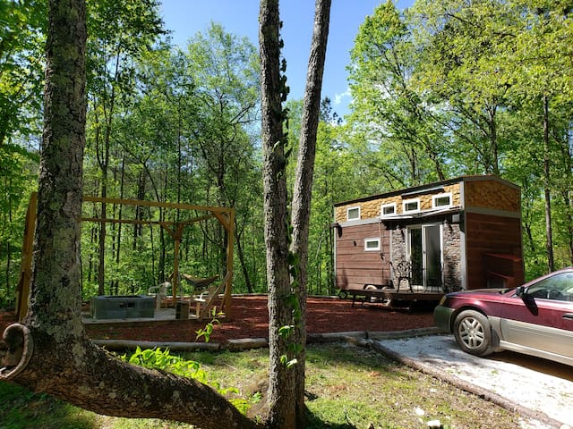 Tiny house mountain rental on 2 acres near Ellijay