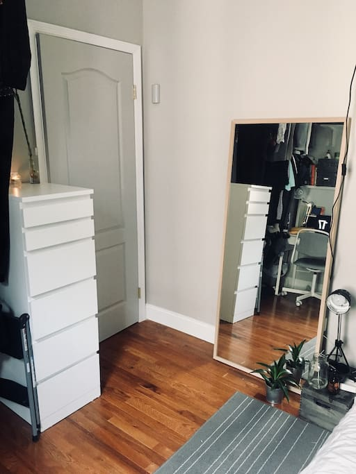 Modern Dresser and Large Mirror
