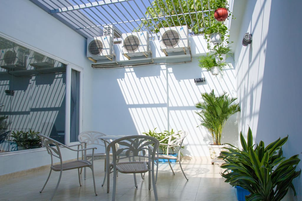 Terrace garden. Accessible through the living room balcony or master bedroom. Perfect for coffee or just chit chatting.