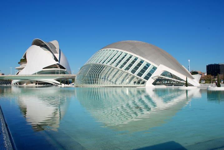 CERCA DE PLAYA, DEL CENTRO Y LA CIUDAD D LAS ARTES - València - Byt