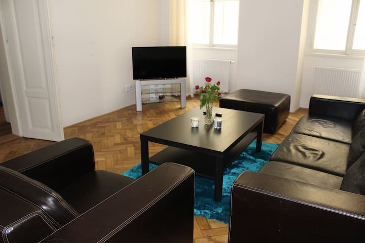 Spacious & Quiet apartment in the city center - Praga - Casa