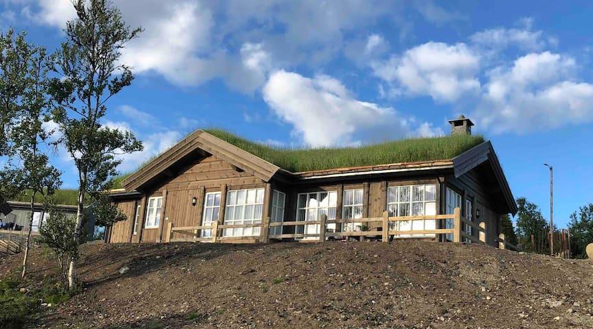 Nyoppført hytte med utsikt over Gålåvatnet