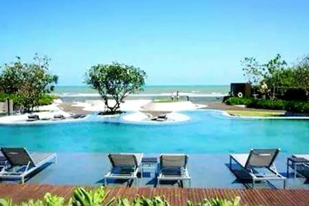 CHARMING LUXURY 2BR BEACHFRONT CONDO WITH MOTOBIKE - Cha-Am