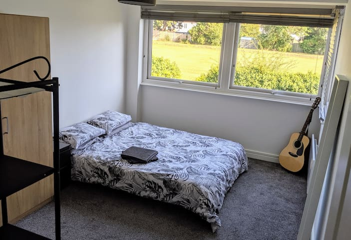 Bright and spacious room in lovely area.