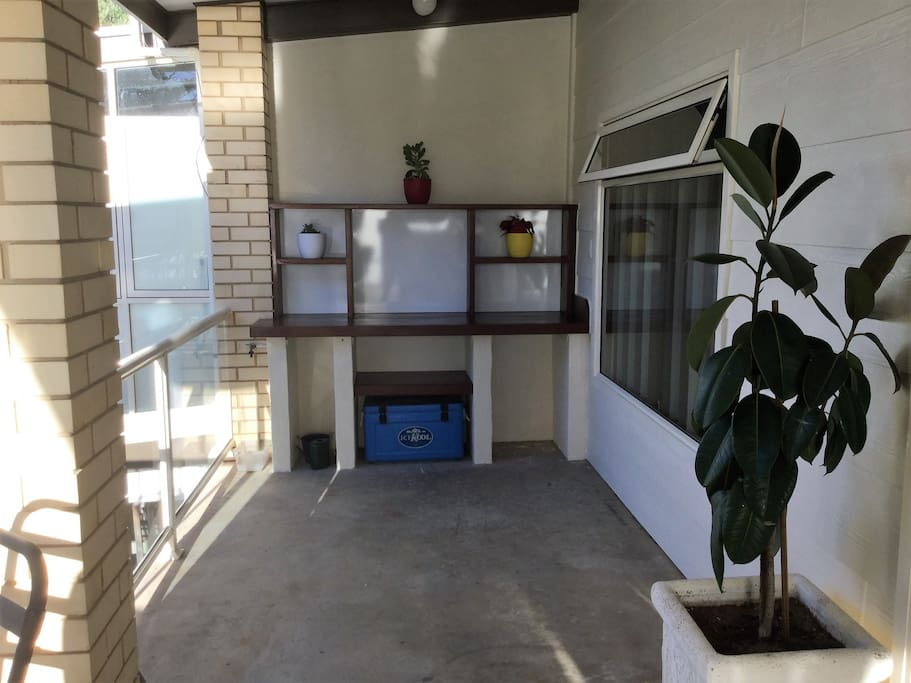 balcony , This is an upstairs apartment, completely self contained