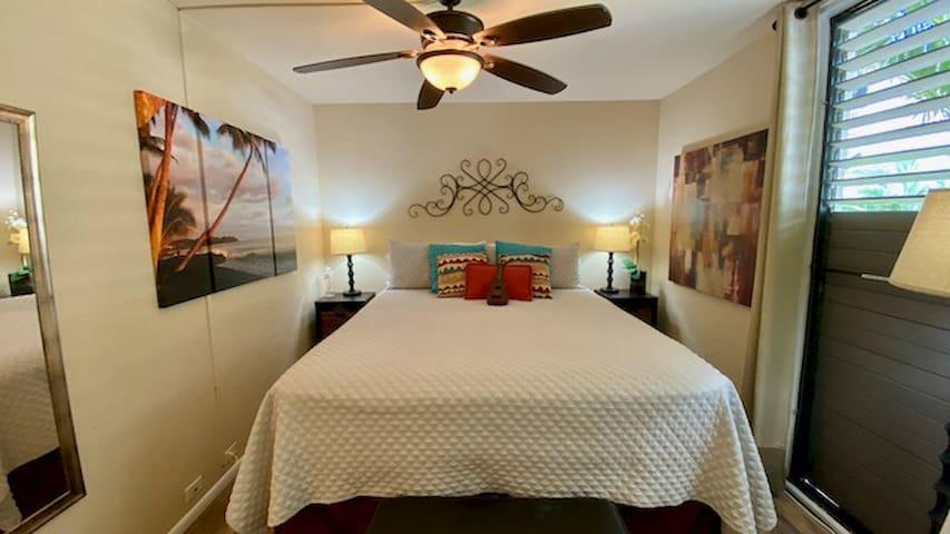 Super comfy Cal King Bed.