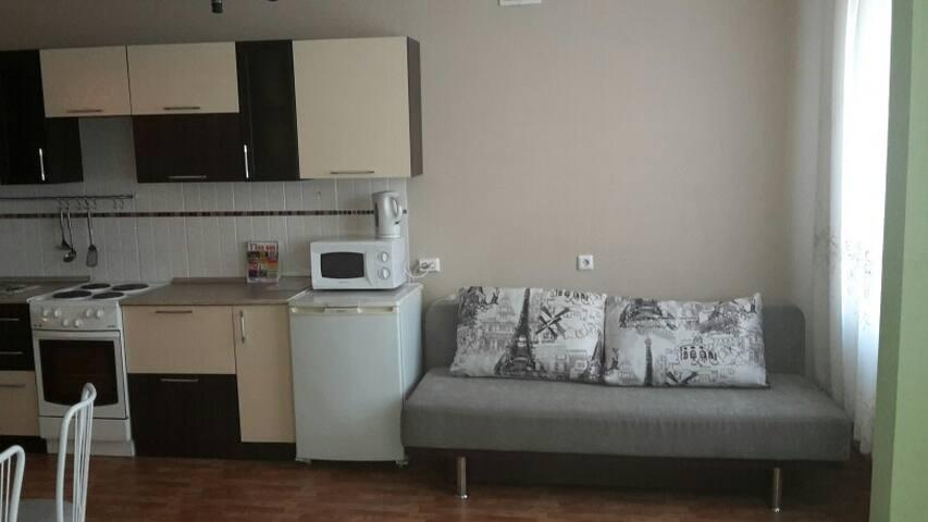 Однокомнатная квартира в высотке с отличным видом - Krasnoyarsk - Daire
