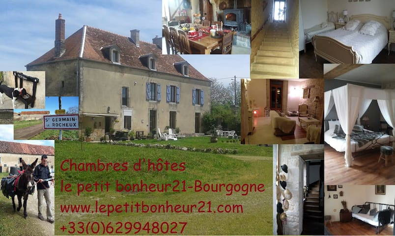 Le petit bonheur 21 ; our romantic bedroom - Saint-Germain-le-Rocheux - Penzion (B&B)