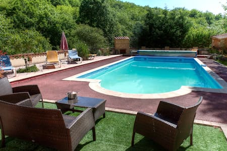 Large Villa Heated Pool Dordogne / Lot - Borrèze - Hus