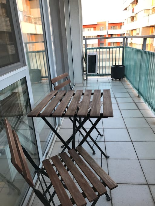 wide terrace. great place to start your day with a coffee