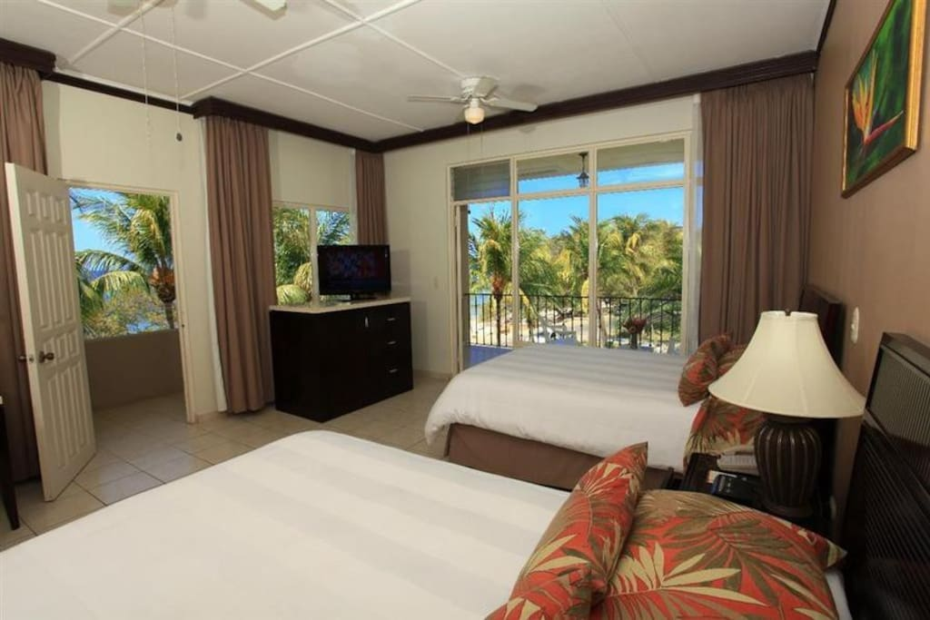 Ocean front room with balcony.