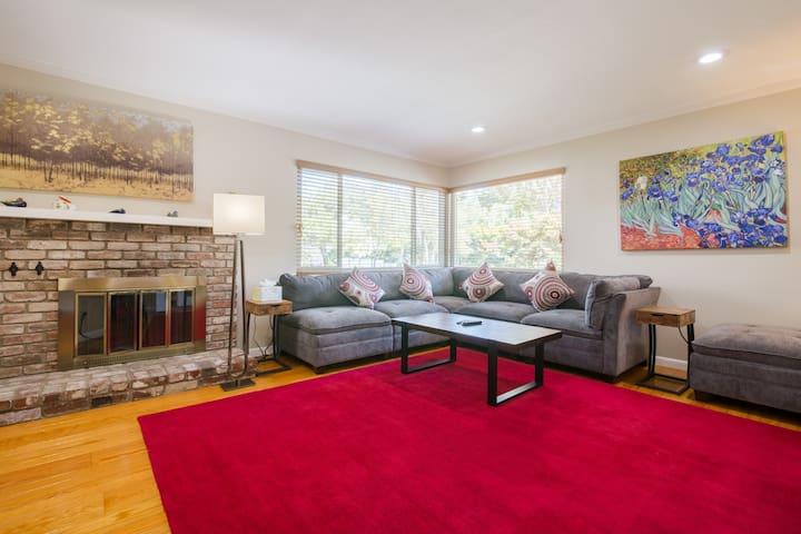 5.0* Luxurious Palo Alto/Stanford House-Cov19 Cln!