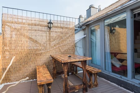 二环中心豪华露台loft/A loft with terrace in the central BJ - Wohnung