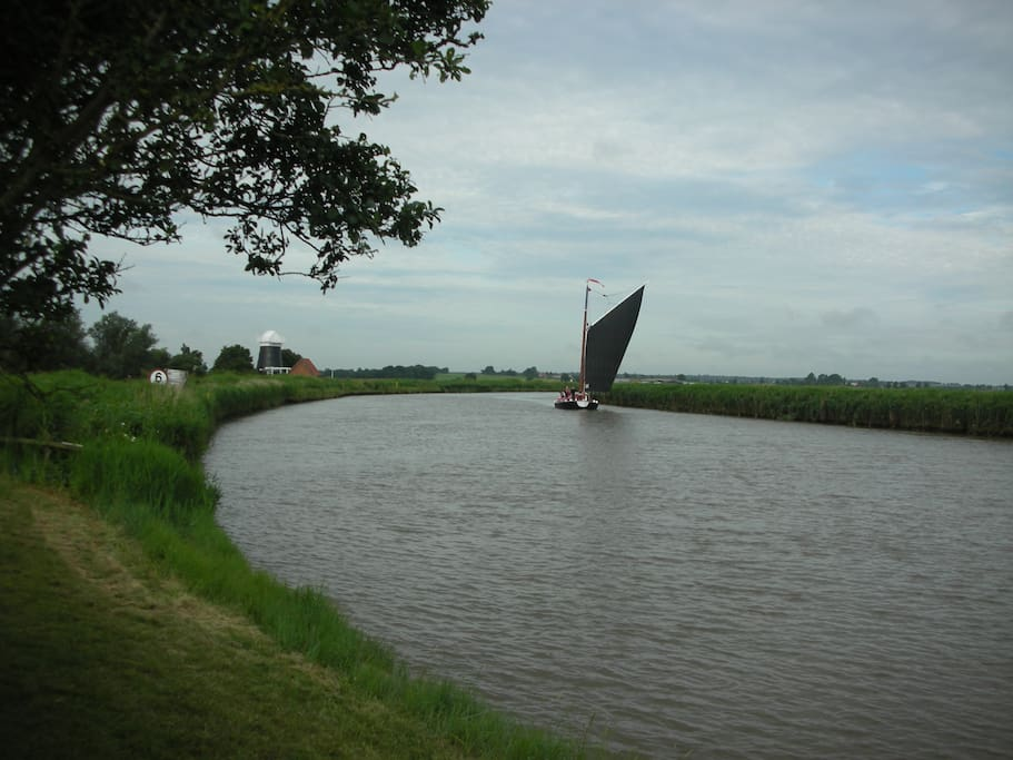 A wherry viewed from our staithe