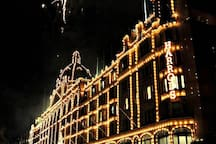 Harrods! walking distance from the flat or a short bus ride