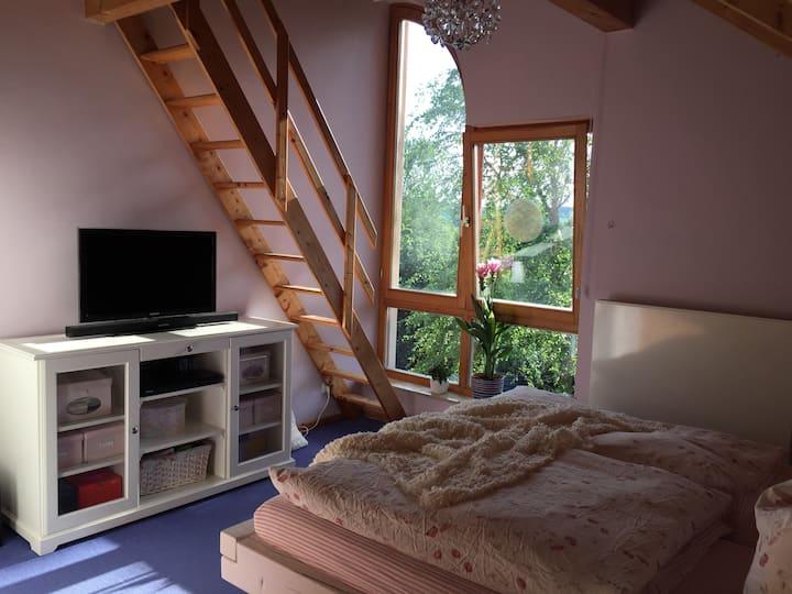 Gemütliches Zimmer in charmantem Haus im Grünen
