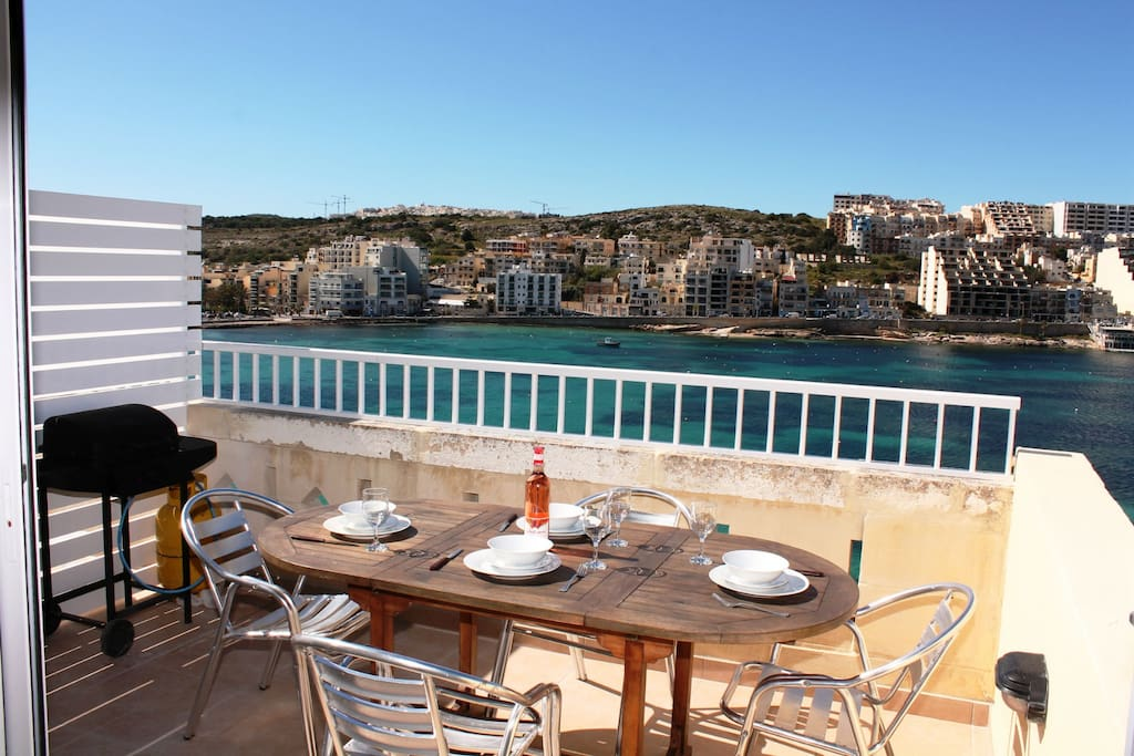 Front Terrace With Spectacular Seaviews. Equipped With Outdoor Furniture and Gas BBQ