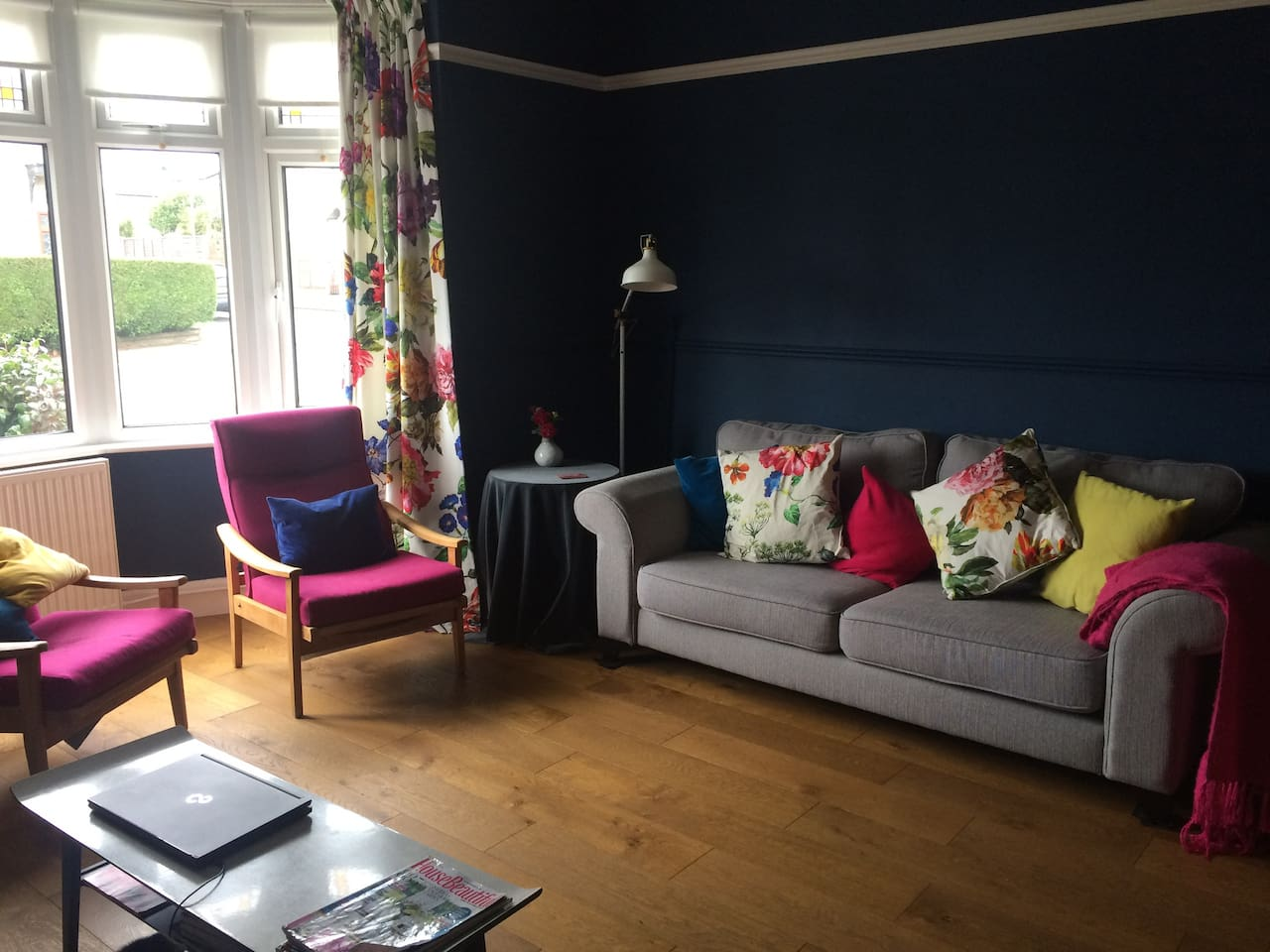 Bright and funky front room