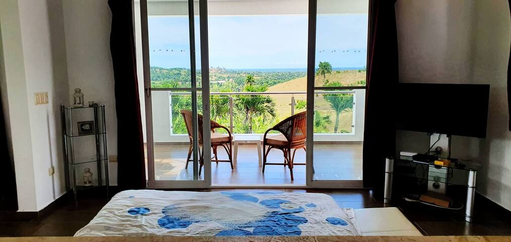 ocean view from the master bedroom