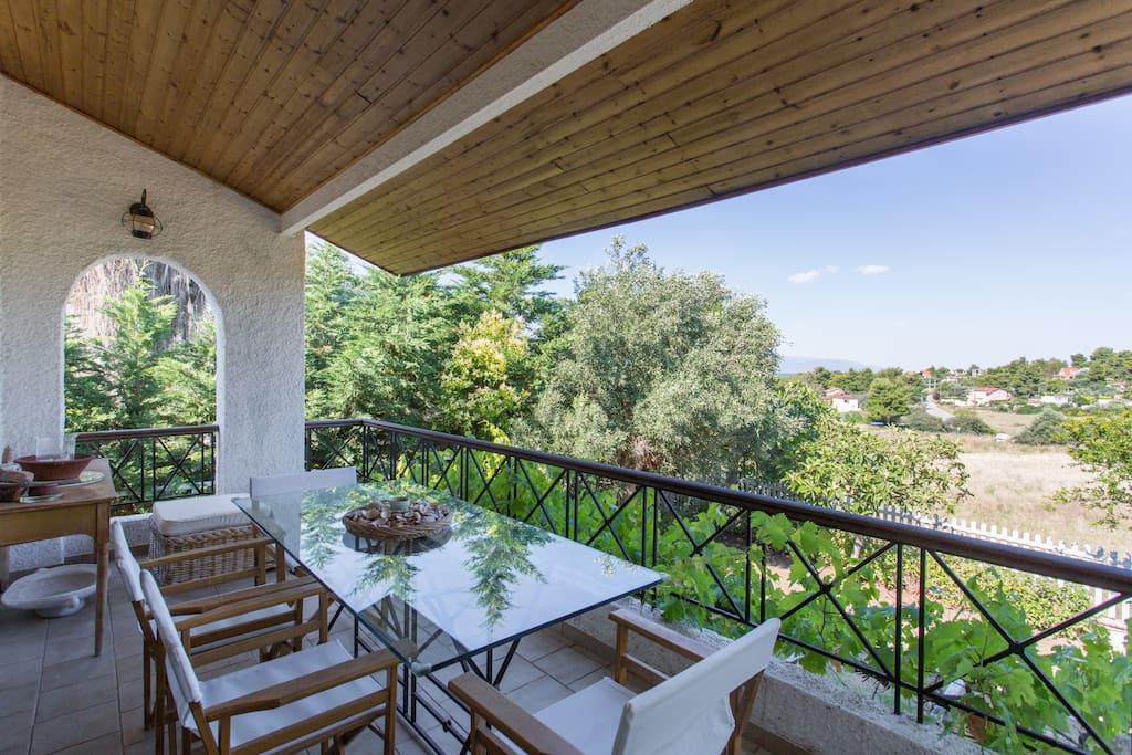 balcony of the main living room