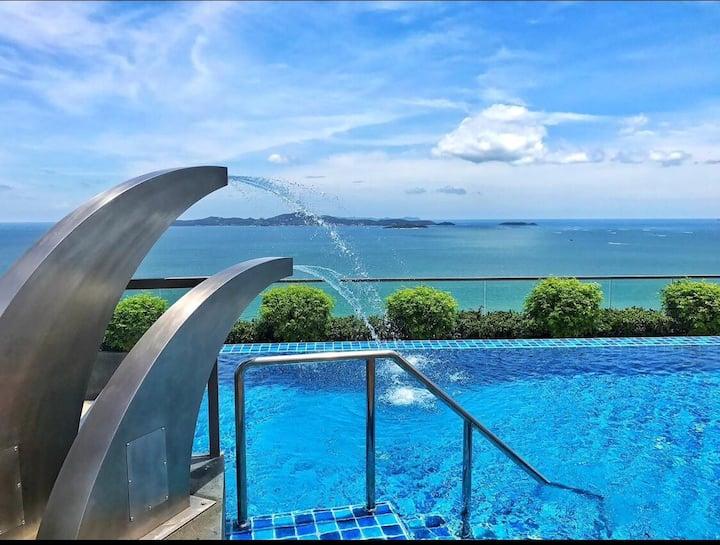 Best seaview,good onebed room Pattaya! 完美芭提雅海景一室一厅