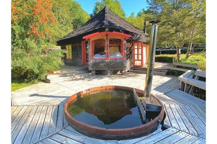 Casa privada a orillas del lago Tinquilco