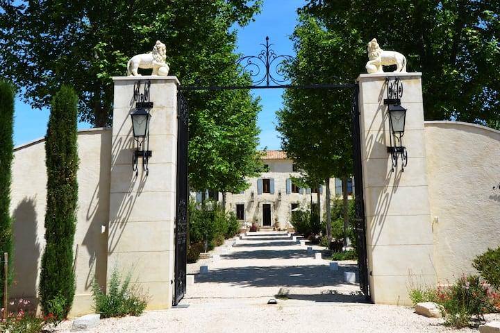 Mas Provençal proche d'Avignon, Piscine et Jacuzzi