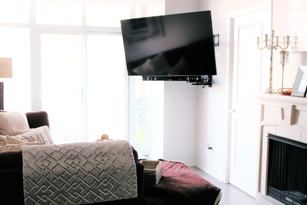 """60"""" Smart TV and the comfiest couch = The best and only way to watch TV"""