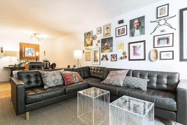 Large Sofa in Artist's Apartment