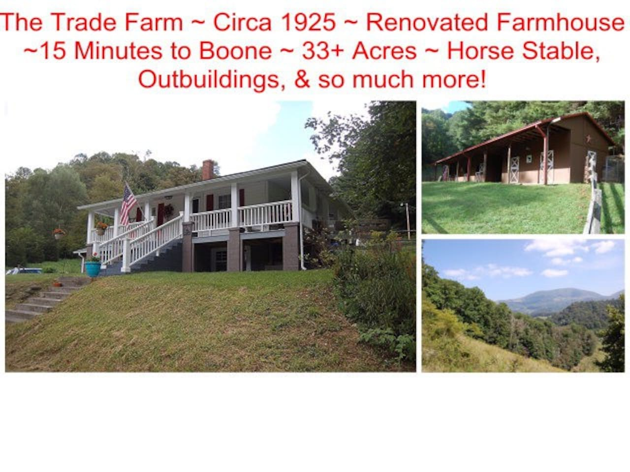 the trade farm circa   minutes to boone houses for rent in trade tennessee united states: heater table aaad