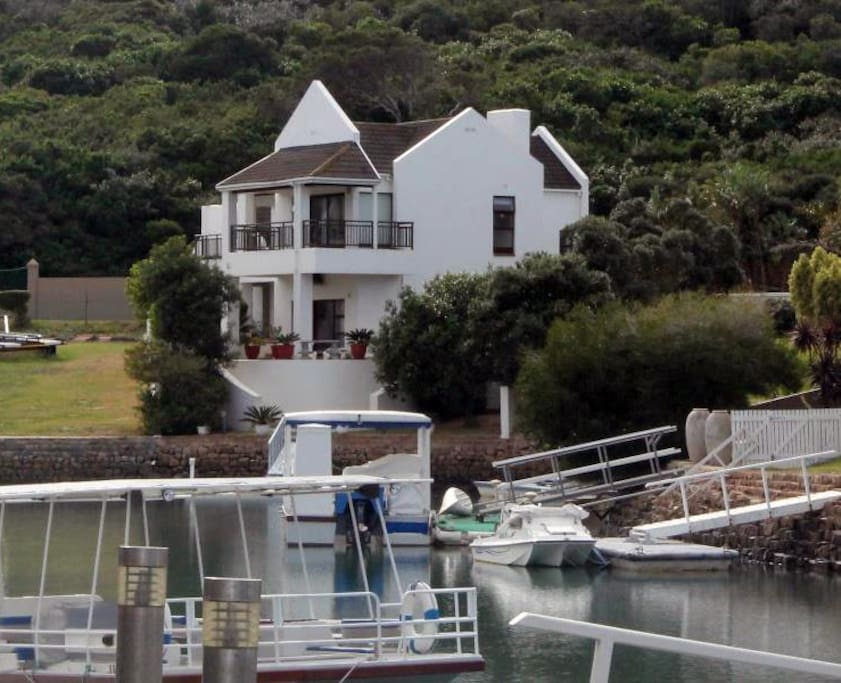 View of the house from the Marina