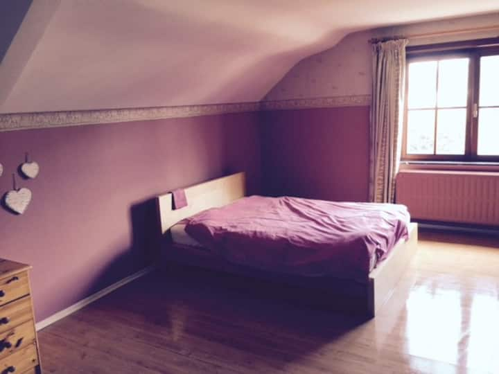 Grande chambre privée à louer dans villa