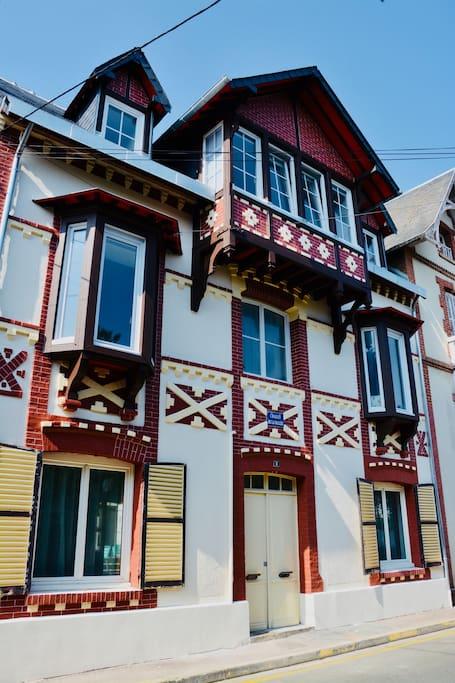 Façade typique Normande