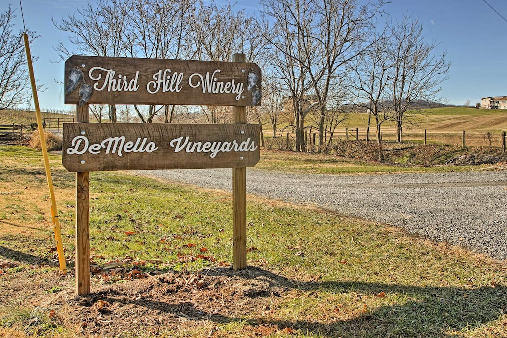 This beautiful home is located across the street from Third Hill Winery!