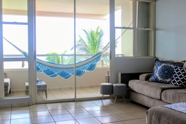 Enjoy listening and watching the waves from the locally crafted hammock ... #RinconExperience