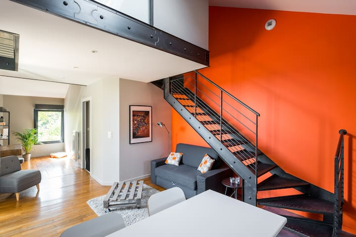 Loft between Eurexpo and St Exupéry airport - Genas - Wohnung