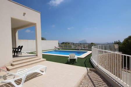 Secluded Modern 3-Bedroom Hilltop Villa - Sweeping Views of Calpe  Private Pool - Calp