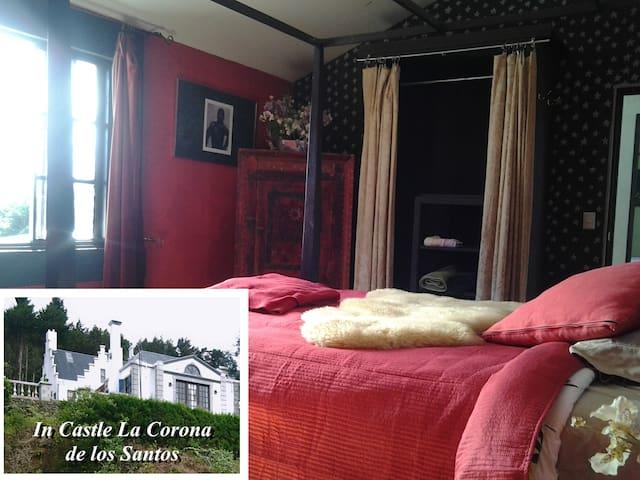 The Ruby Room in Castle La Corona - Santa Cruz de León Cortés - Schloss