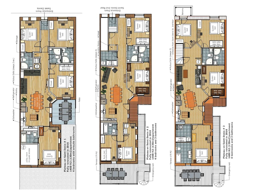 Each drawing is a separate apartment within the same building. You might prefer one over another. If so, let us know and we'll send you the links to the others so you can see the photos.