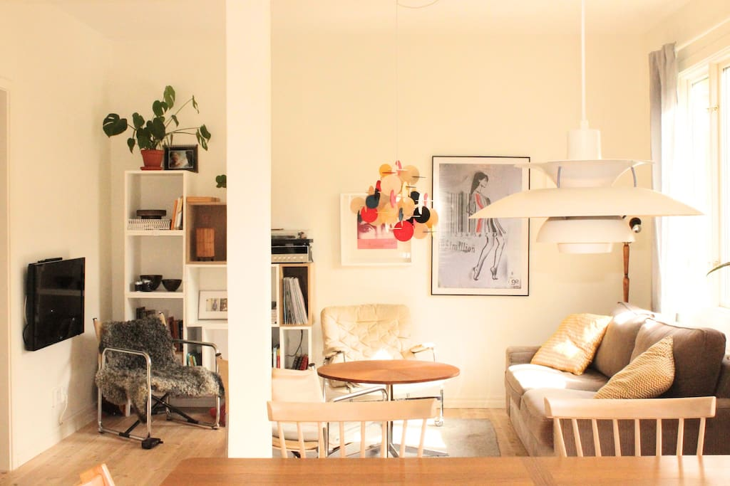 Living room with a lots of light and an open feeling