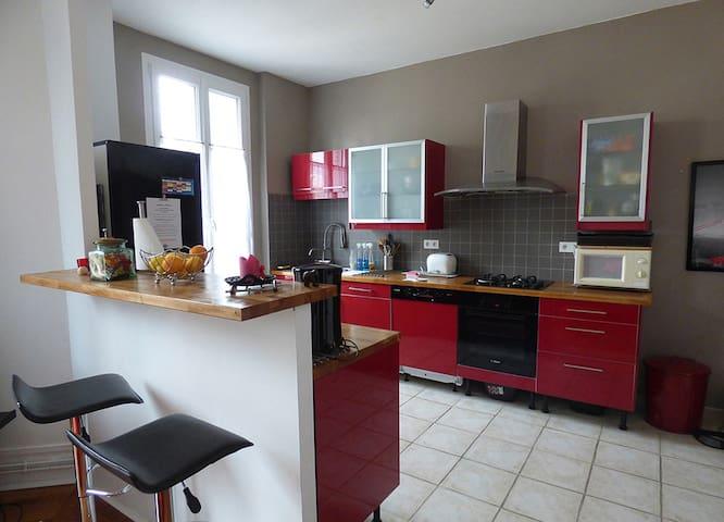 Beau T3 ancien rénové,tout confort - Chalon-sur-Saône - Appartement