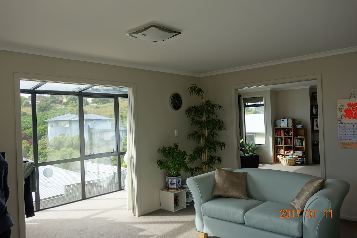 Enjoy the sun in the living room and family room