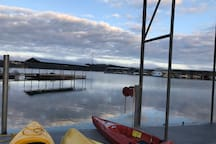 Kayaks on our private Dock.