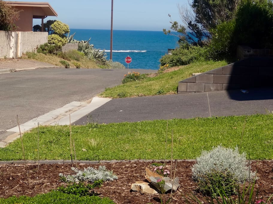 Sea and reef view from front garden
