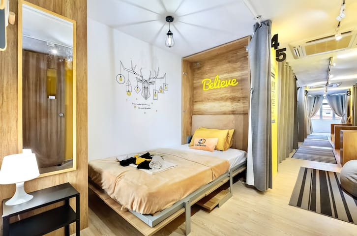 hipstercity - Private Double Bed with shared Bath