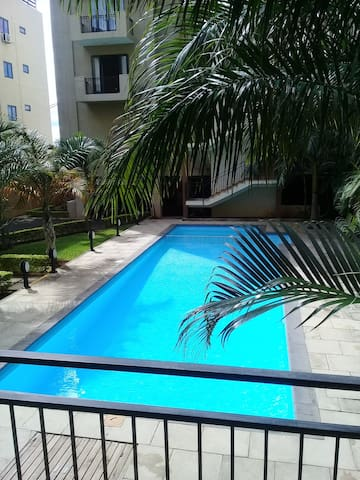 Spacious apt with pool access