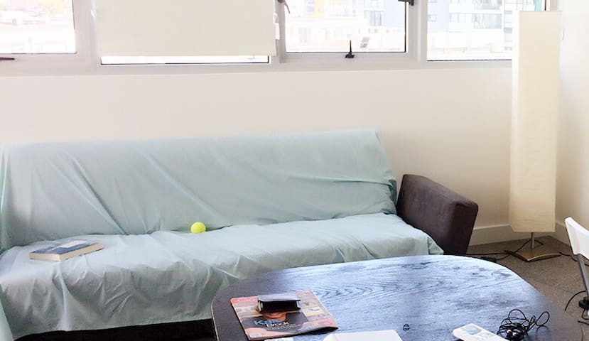 Cozy sofa bed in Modern living room - Wolli Creek - Apartmen
