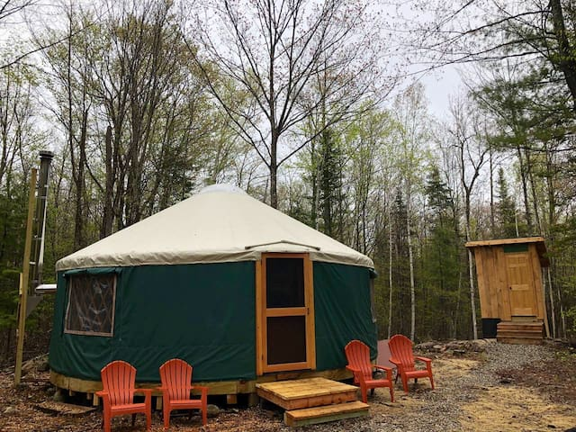 Hideaway Yurt at Maine Forest Yurts