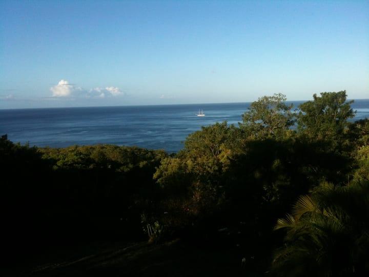 Bas de villa vue Mer des Caraïbes
